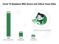 Covid 19 Symptoms Mild Severe And Critical Cases Ratio Ppt PowerPoint Presentation File Brochure PDF