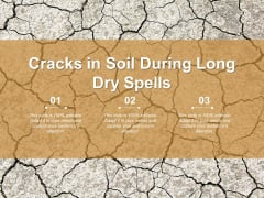 Cracks In Soil During Long Dry Spells Ppt PowerPoint Presentation Infographics Aids