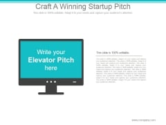 Craft A Winning Startup Pitch Ppt PowerPoint Presentation Design Ideas