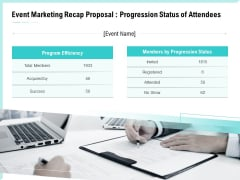 Craft The Perfect Event Proposal Event Marketing Recap Proposal Progression Status Of Attendees Download PDF