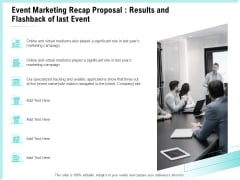 Craft The Perfect Event Proposal Event Marketing Recap Proposal Results And Flashback Of Last Event Professional PDF