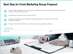 Craft The Perfect Event Proposal Next Step For Event Marketing Recap Proposal Guidelines PDF