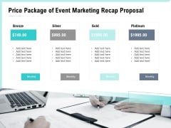 Craft The Perfect Event Proposal Price Package Of Event Marketing Recap Proposal Sample PDF