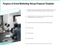 Craft The Perfect Event Proposal Purpose Of Event Marketing Recap Proposal Template Introduction PDF