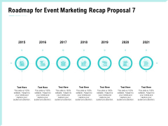 Craft The Perfect Event Proposal Roadmap For Event Marketing Recap Proposal 2015 To 2021 Template PDF