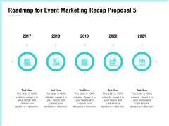Craft The Perfect Event Proposal Roadmap For Event Marketing Recap Proposal 2017 To 2021 Information PDF
