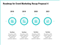 Craft The Perfect Event Proposal Roadmap For Event Marketing Recap Proposal 2018 To 2021 Graphics PDF