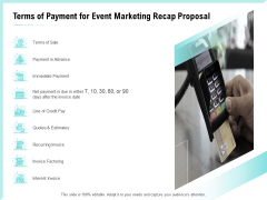 Craft The Perfect Event Proposal Terms Of Payment For Event Marketing Recap Proposal Designs PDF