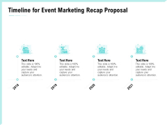 Craft The Perfect Event Proposal Timeline For Event Marketing Recap Proposal Clipart PDF