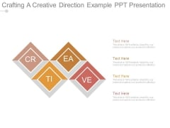 Crafting A Creative Direction Example Ppt Presentation