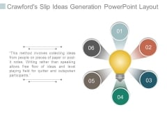 Crawfords Slip Ideas Generation Powerpoint Layout