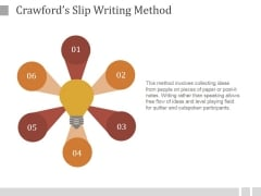 Crawfords Slip Writing Method Ppt PowerPoint Presentation Inspiration