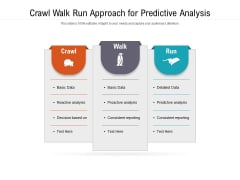 Crawl Walk Run Approach For Predictive Analysis Ppt PowerPoint Presentation File Maker PDF