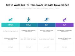 Crawl Walk Run Fly Framework For Data Governance Ppt PowerPoint Presentation Icon Professional PDF