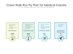Crawl Walk Run Fly Plan For Medical Industry Ppt PowerPoint Presentation File Example PDF