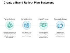 Create A Brand Rollout Plan Statement Ppt PowerPoint Presentation File Slides
