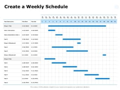 Create A Weekly Schedule Ppt PowerPoint Presentation Gallery Professional