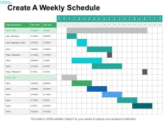 Create A Weekly Schedule Ppt PowerPoint Presentation Portfolio Infographics
