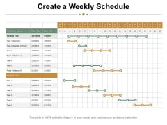 Create A Weekly Schedule Ppt PowerPoint Presentation Styles Background Image