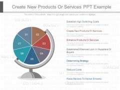 Create New Products Or Services Ppt Example