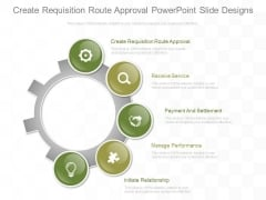 Create Requisition Route Approval Powerpoint Slide Designs