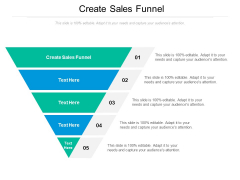 Create Sales Funnel Ppt PowerPoint Presentation Icon Summary Cpb