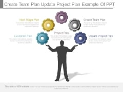 Create Team Plan Update Project Plan Example Of Ppt