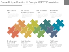 Create Unique Question Id Example Of Ppt Presentation