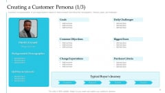 Creating A Customer Persona Goals Steps To Improve Customer Engagement For Business Development Themes PDF