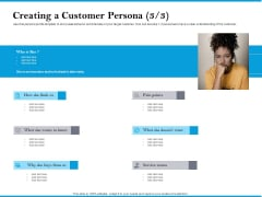 Creating A Customer Persona Points Clipart PDF