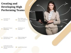 Creating And Developing High Performing Teams Ppt PowerPoint Presentation Slides Gridlines PDF
