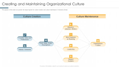 Creating And Maintaining Organizational Culture Guidelines PDF