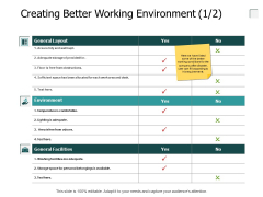 Creating Better Working Environment General Ppt PowerPoint Presentation Model Deck