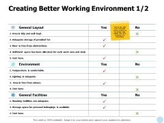 Creating Better Working Environment Management Ppt PowerPoint Presentation Layouts Example Introduction