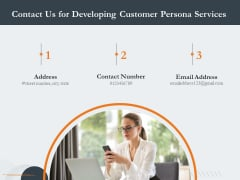 Creating Buyer Persona Contact Us For Developing Customer Persona Services Icons PDF