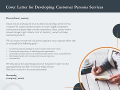 Creating Buyer Persona Cover Letter For Developing Customer Persona Services Elements PDF