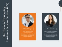 Creating Buyer Persona Our Team For Developing Customer Persona Services Graphics PDF