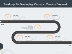 Creating Buyer Persona Roadmap For Developing Customer Persona Proposal Diagrams PDF