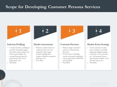 Creating Buyer Persona Scope For Developing Customer Persona Services Brochure PDF