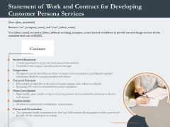 Creating Buyer Persona Statement Of Work And Contract For Developing Customer Persona Services Clipart PDF