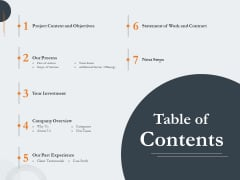 Creating Buyer Persona Table Of Contents Designs PDF