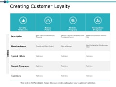 Creating Customer Loyalty Ppt PowerPoint Presentation Model Slide