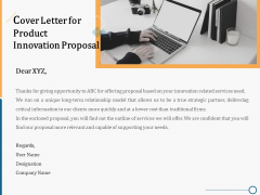 Creating Innovation Commodity Cover Letter For Product Innovation Proposal Ppt Slides Portrait PDF