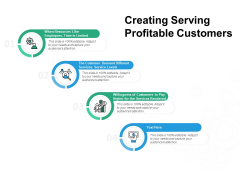 Creating Serving Profitable Customers Ppt PowerPoint Presentation Gallery Graphics Tutorials