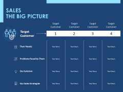 Creating The Best Sales Strategy For Your Business Sales The Big Picture Ppt Show Graphics Example PDF