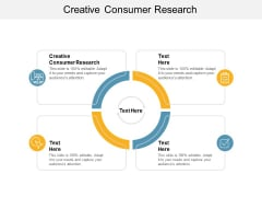 Creative Consumer Research Ppt PowerPoint Presentation Model Information Cpb