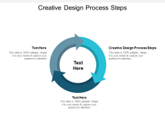 Creative Design Process Steps Ppt PowerPoint Presentation File Diagrams Cpb