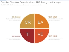 Creative Direction Considerations Ppt Background Images