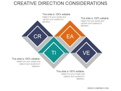 Creative Direction Considerations Ppt PowerPoint Presentation Background Images
