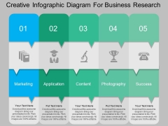 Creative Infographic Diagram For Business Research Powerpoint Template